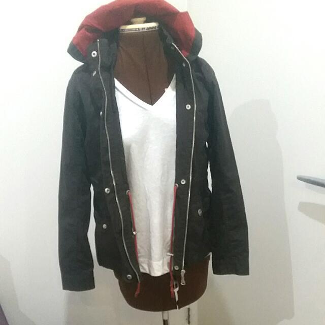 Brown Jacket With Orange Detailing