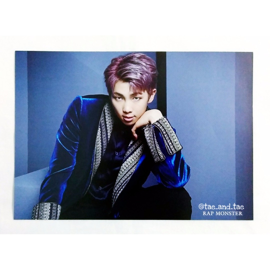 [PENDING] BTS Official Japan Blood, Sweat & Tears Shibuya Limited Special Flyer - Rap Monster