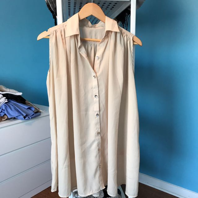 Button-up Dress Free Size