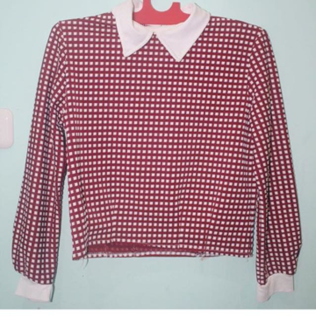 Checker Collar Shirt