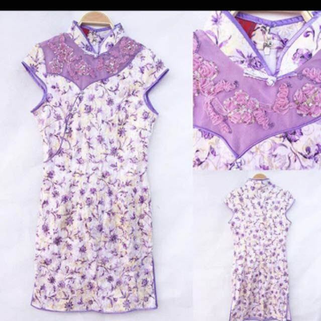Cheongsam In Purple