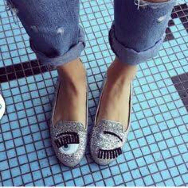 Chiara Ferragni 'Flirting' Glitter Flats - AU 7