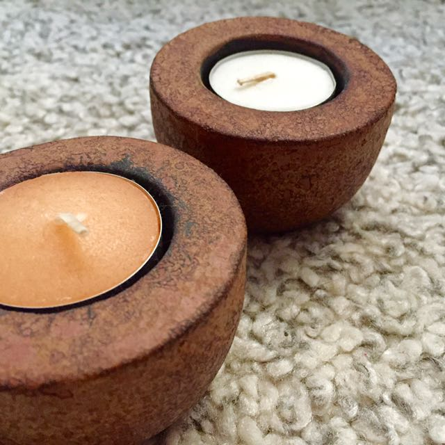 Clay Candle Holder Set
