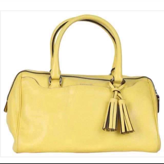 Coach Yellow Tassels Handbag