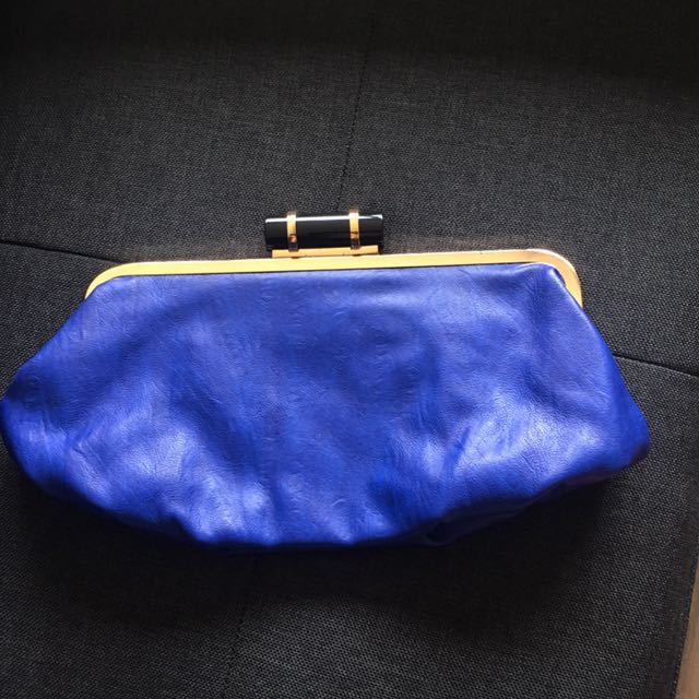 Colette Blue Clutch