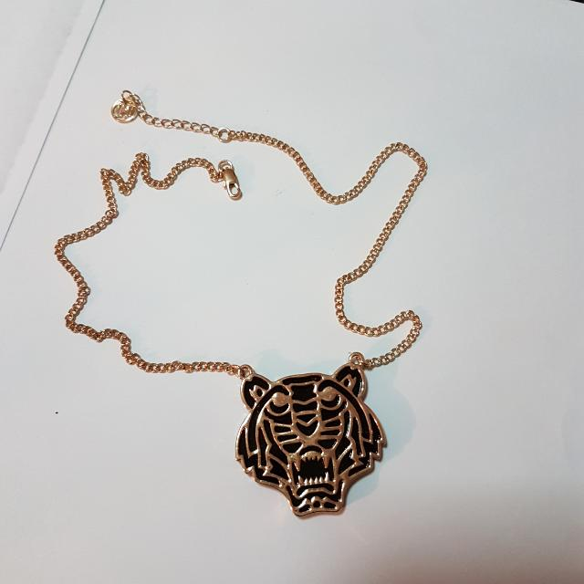 Colette Tiger Black Gold Necklace