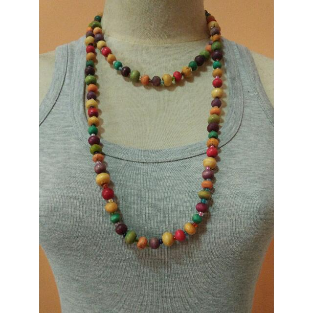 Colourful Beads Necklace & Bracelet