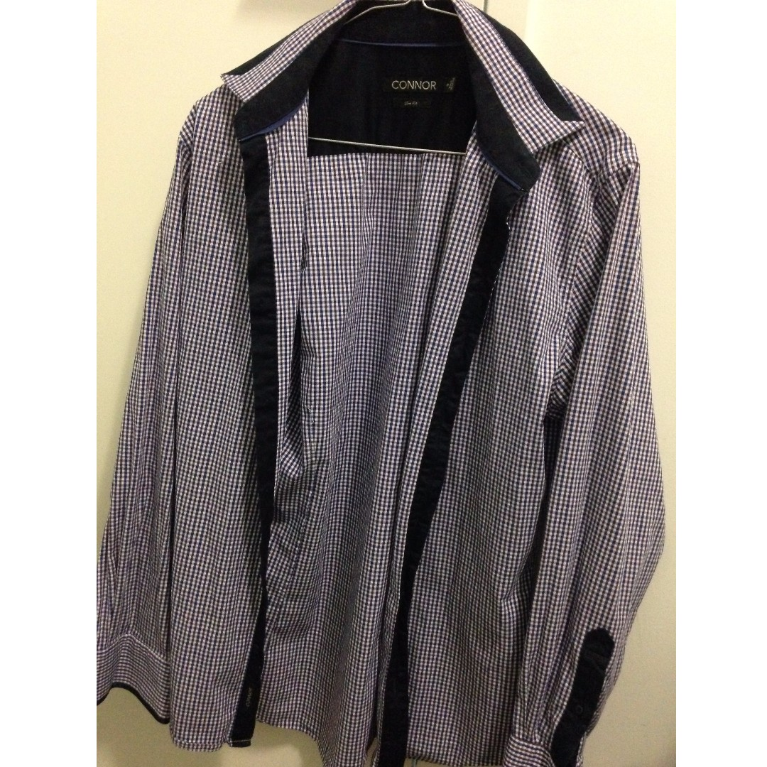 Connor Check Shirt Size Small Slit Fit