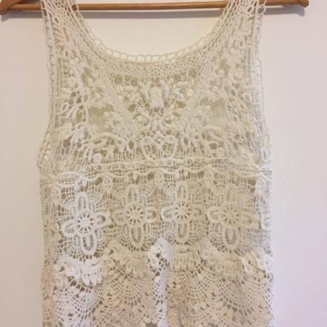 Crochet Festival Top Size 8