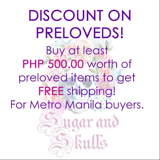Discount on Preloved Items - Within Metro Manila