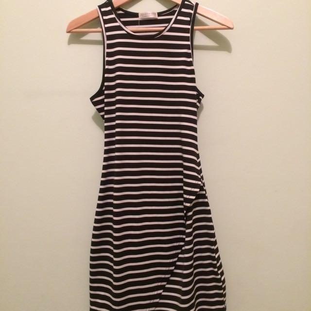 dress black and white mariniere