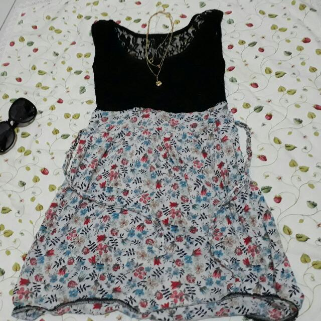 Flower Dress With Lace