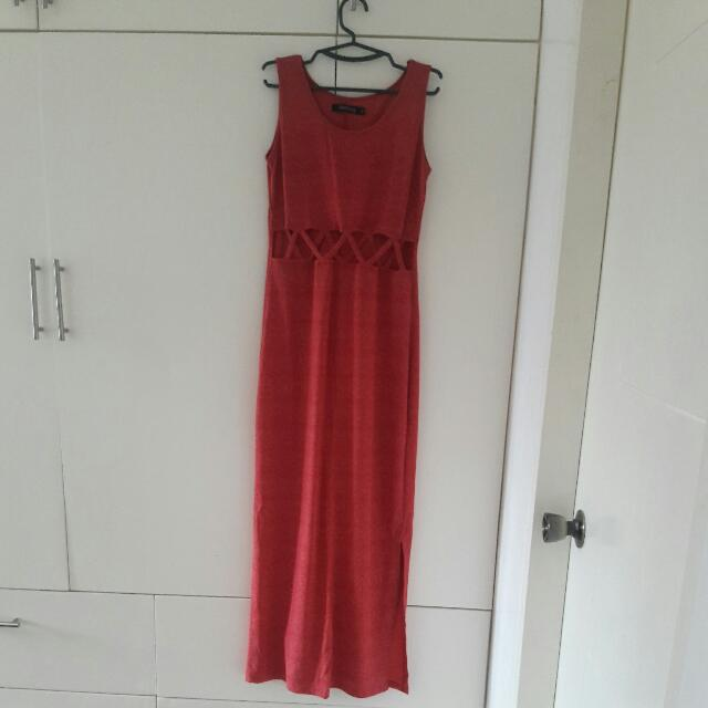 Folded And Hung Maxi Dress