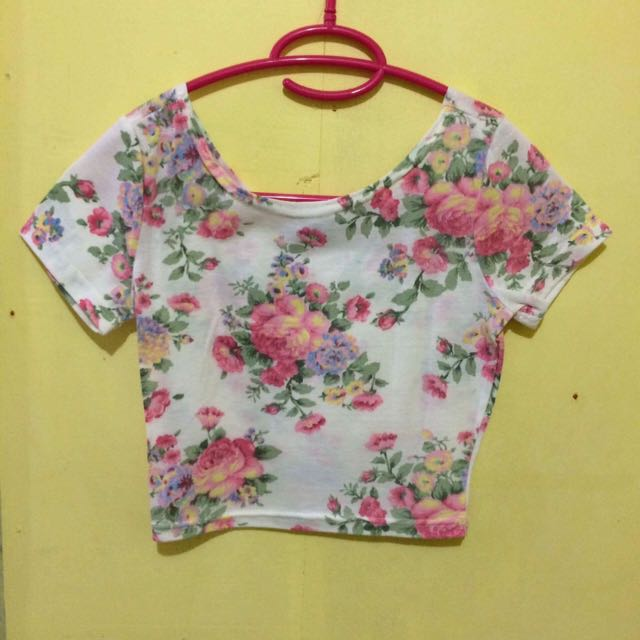 Forever 21 Floral Crop Top (small)