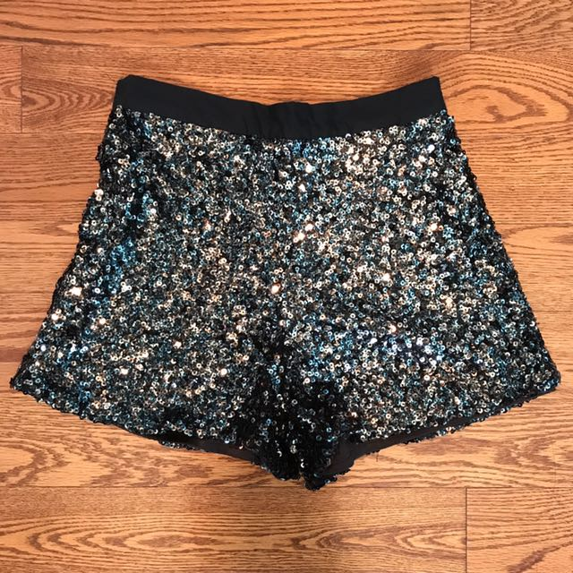 French Connection Sequin Shorts Size US 2