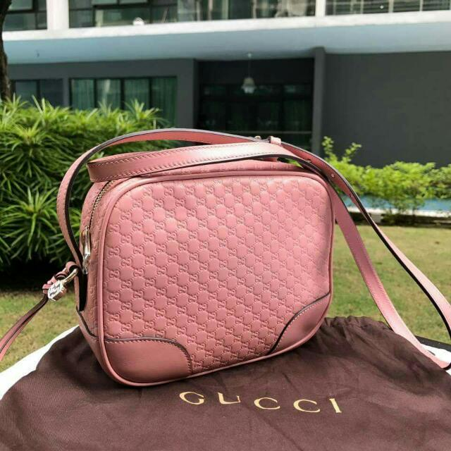 3de50cf41352 Gucci 449413 Micro Guccissima Leather BREE Crossbody, Luxury, Bags & Wallets  on Carousell