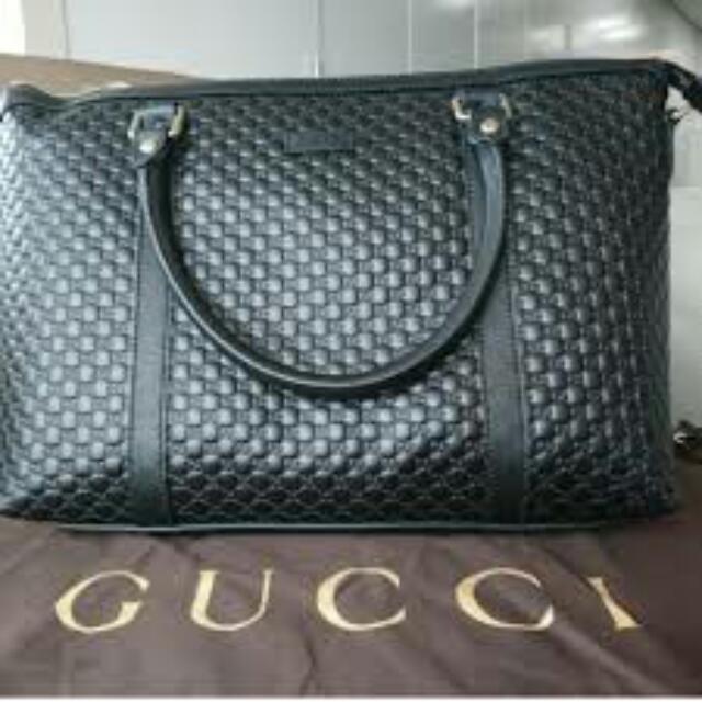 5e3ae8129a4 Gucci 449656 Leather Micro GG Medium Convertible Purse Handbag ...