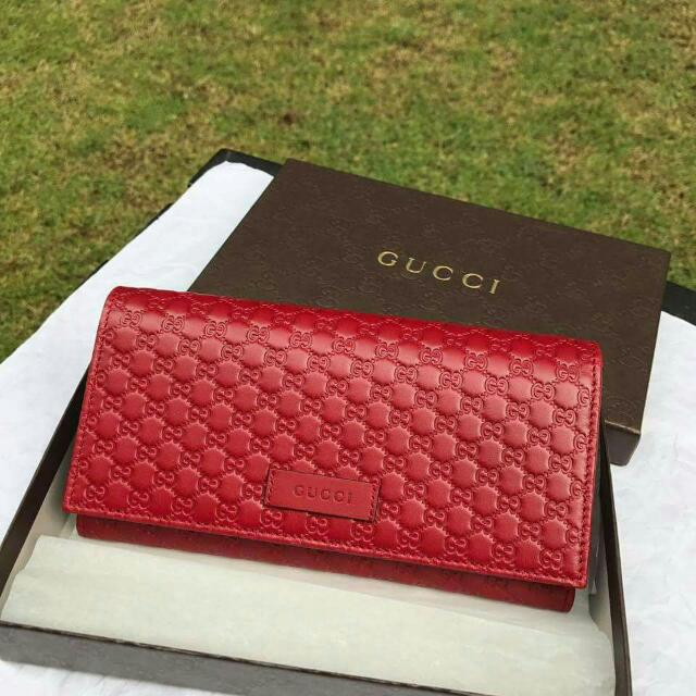 a39a612e26d2 Gucci Micro Guccissima Signature Continental Wallet, Luxury, Bags & Wallets  on Carousell