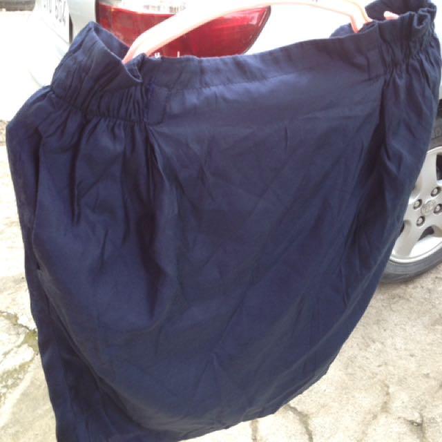 Highwaist Navy Blue Skirt