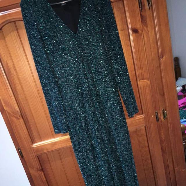 H&M Emerald Green Dress