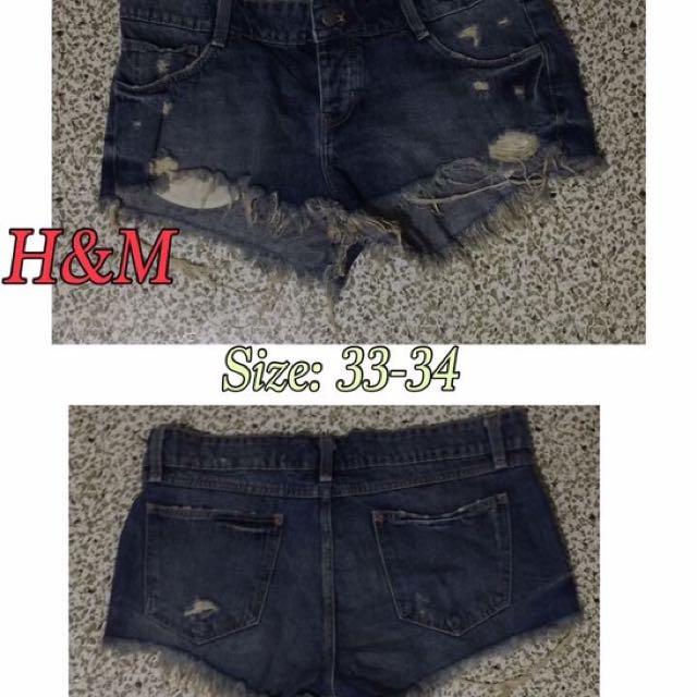 H&M Mid Waist Shorts
