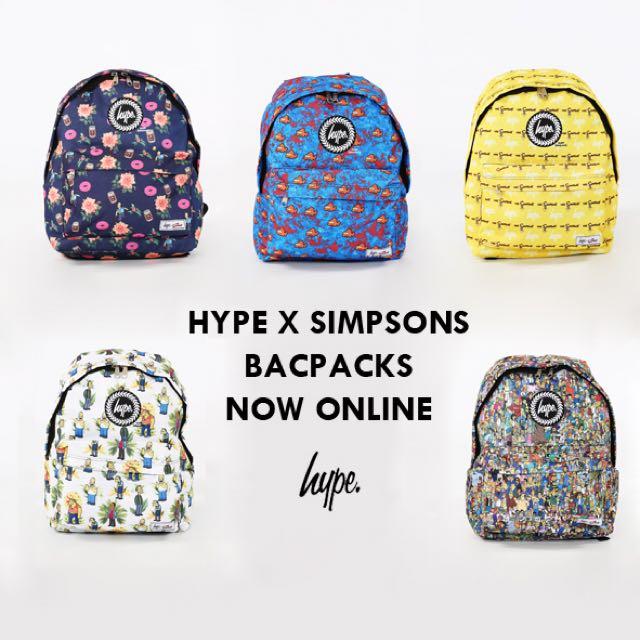 右上二手-Hype x Simpsons 辛普森背包