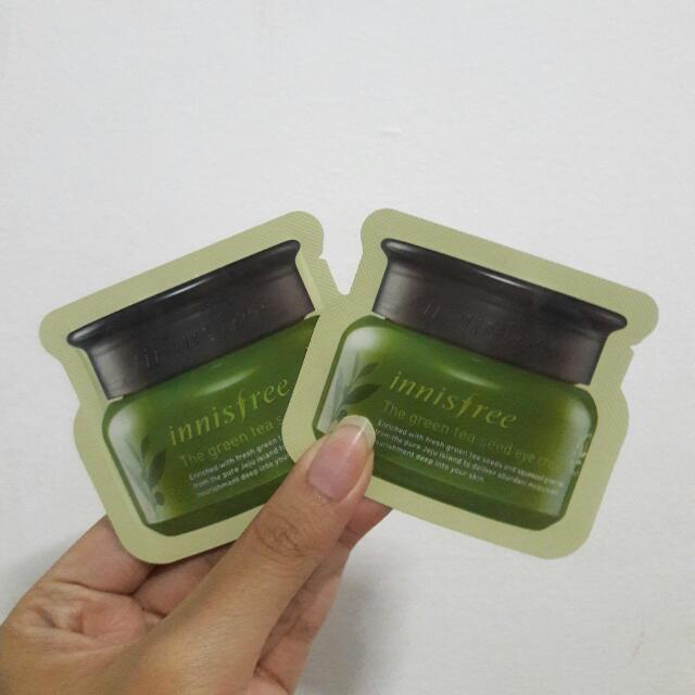 Sampel Innisfree Green Tea Seed Eyecream