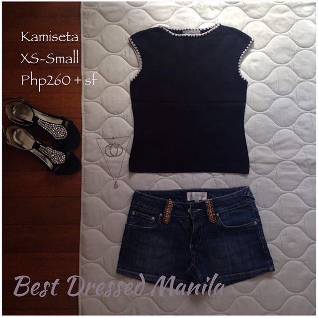 Kamiseta Black Knit Top