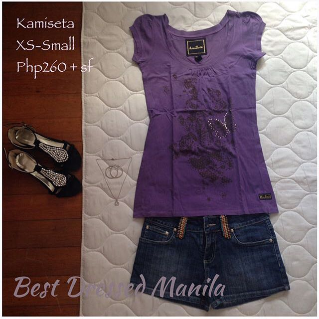 Kamiseta Violet Studded Top
