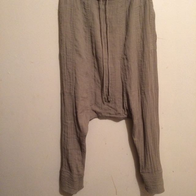 Kookai Drop Crotch//Harem Pants Sz 34
