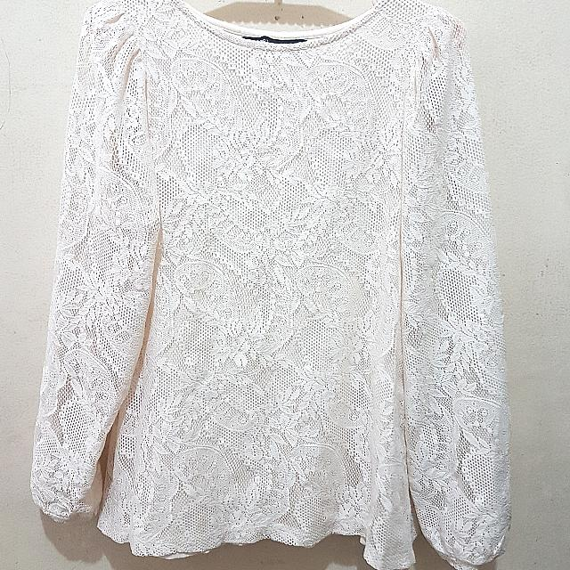 Lace Off-white Longsleeve