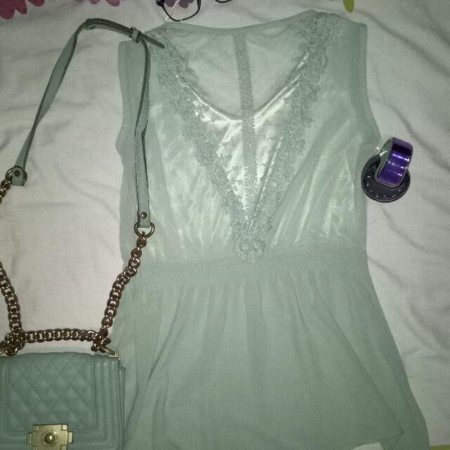 Lacey and Sheer Top