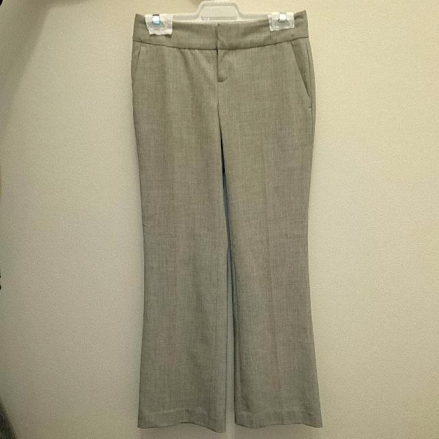 Light Grey Wide-Legged Dress Pants Size 00 Petite