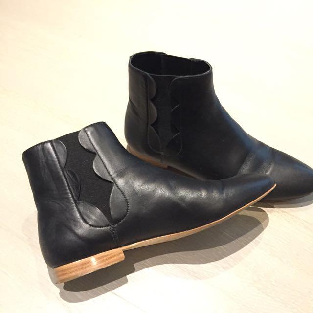 loeffler randall chelsea boots 黑色真皮短靴 Steve Madden Aldo