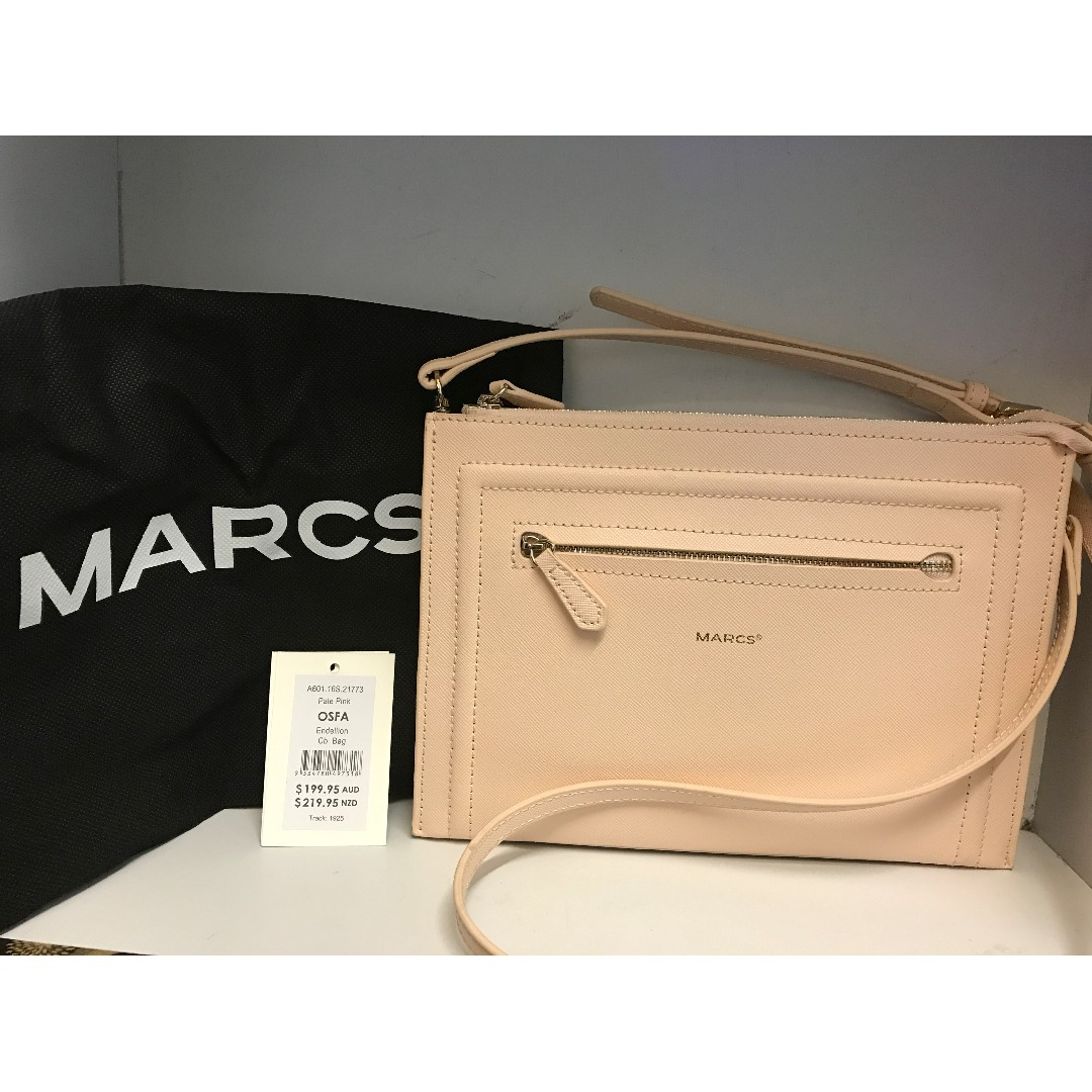 Marcs Endellion Leather Cross Body Bag Pale Pink Luxury Bags Wallets On Carou