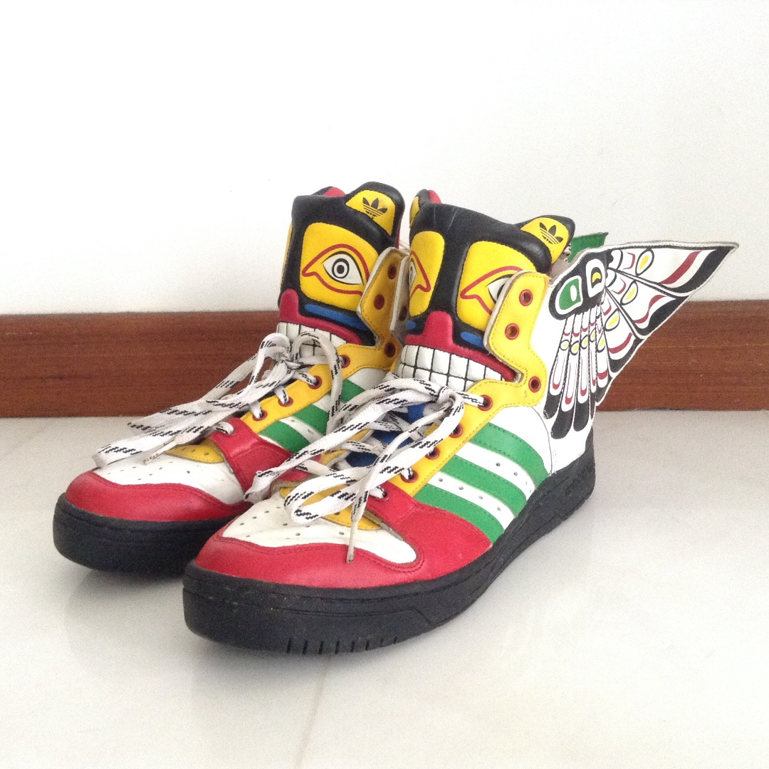 huge selection of 7ac4e eb16c Men s sneakers  Adidas X Jeremy Scott Wing   high top  Limited Edition,  Men s Fashion, Footwear on Carousell