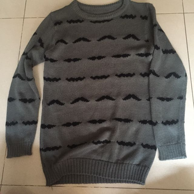 Mustache Sweater ( Abu Abu )