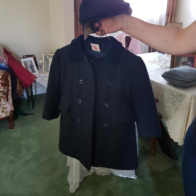 Navy, Boy's Coat EUC