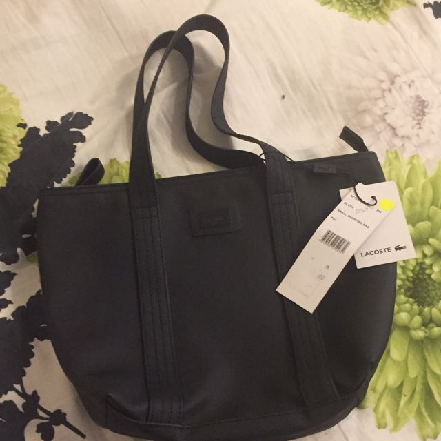 New! Lacoste Small Shopping Bag Black