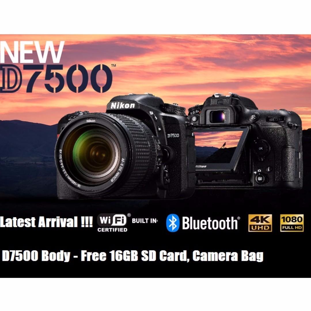 NEW!!] Nikon D7500 Body, Photography on Carousell