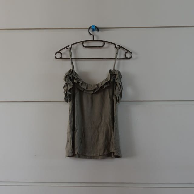 Pacsun Kendall And Kylie Collection Olive Green Top