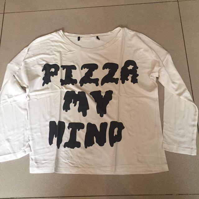 Pizza Mind Crop Top