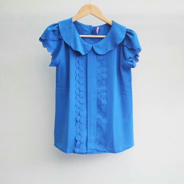 Preloved Blouse Wanita Warna Biru