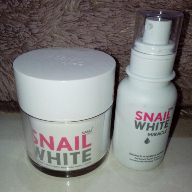 Preloved Original Snail White Cream + Snail White Serum Miracle Intensive Repair By Namu