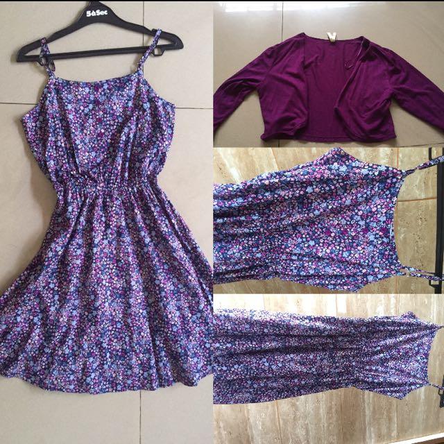 PURPLE FLOWER DRESS