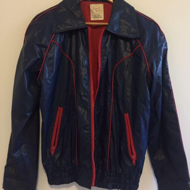 Retro Rainjacket Sz L Large Rain Coat