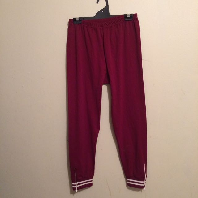 Retro Trackpants W/ Ankle Zip Sz S