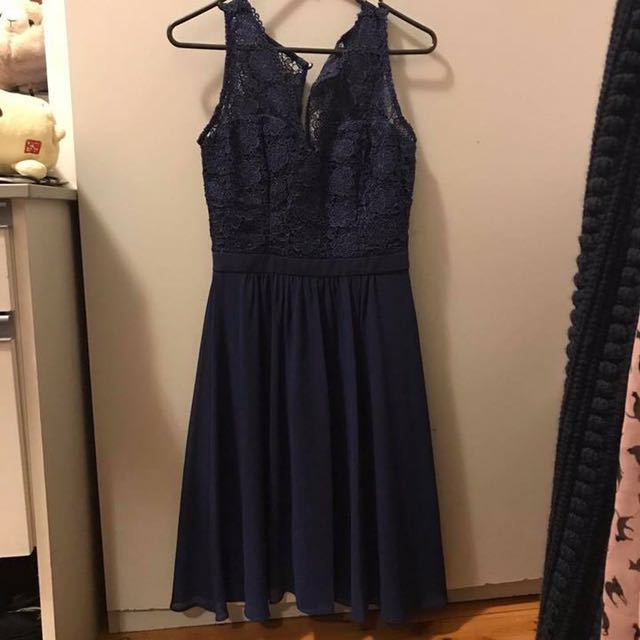 Review Navy Formal Dress Size 6