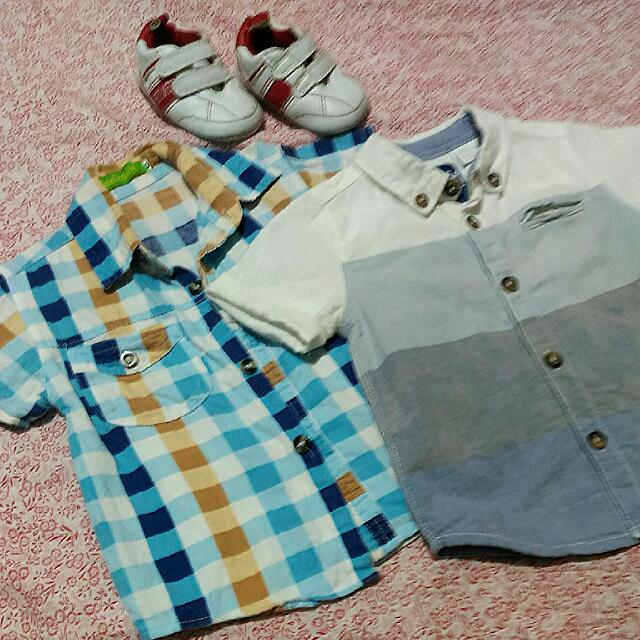 REPRICED Baby Polo Shirt and Shoes