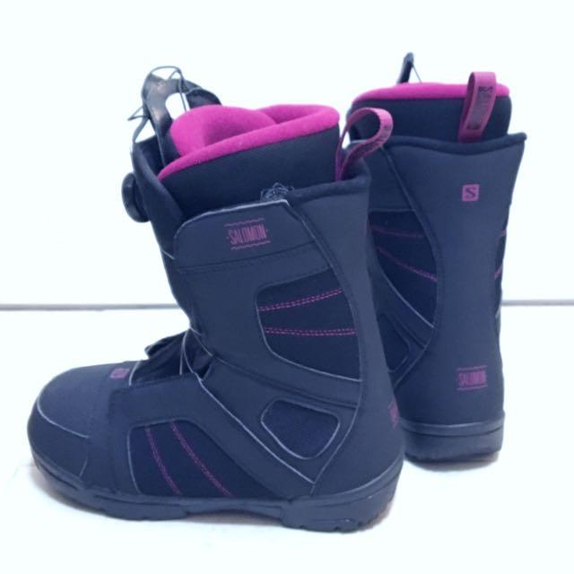 7668ddcc8ae8 Salomon Women s US7.5 Scarlet Boa Snowboard Boot